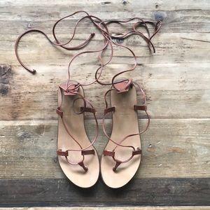 J. Crew lace up gladiator sandals